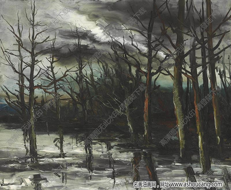 弗拉曼克油画高清图片40下载