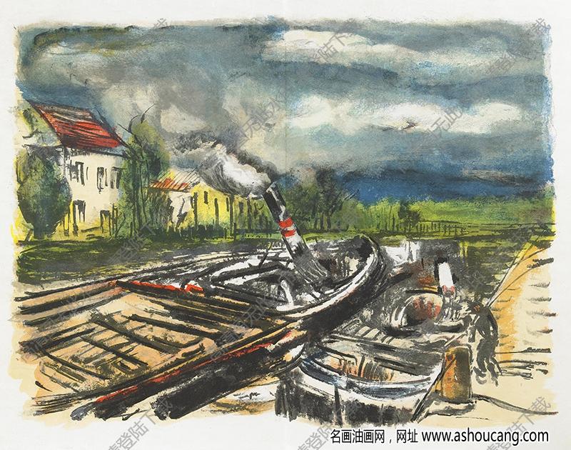 弗拉曼克油画高清图片46下载