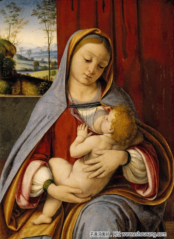 达芬奇著名画作 油画《哺乳圣母》赏析
