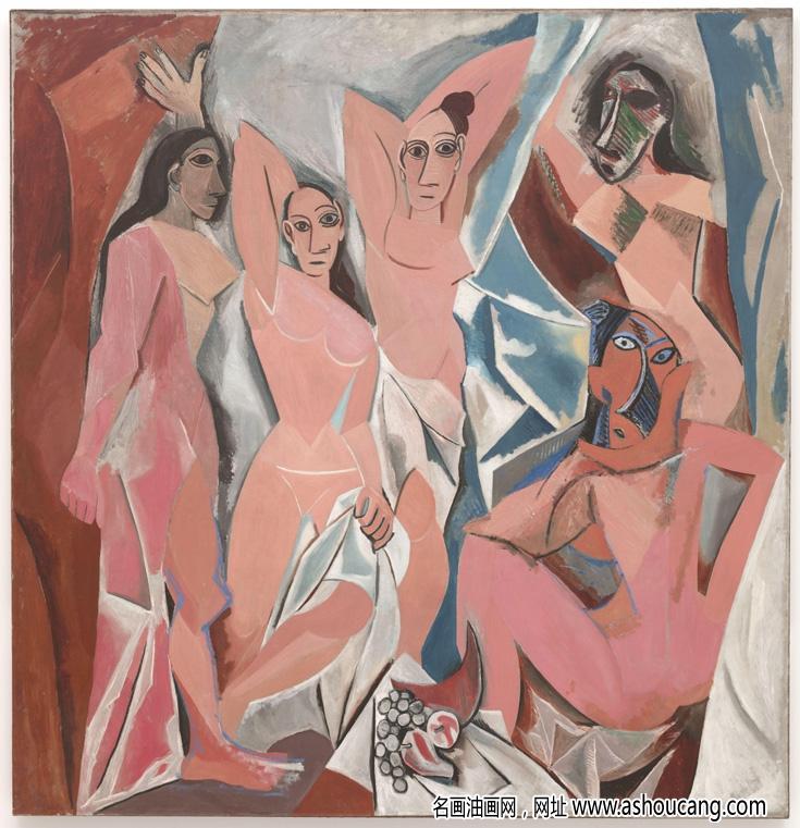 毕加索名画名作《亚威农少女》赏析