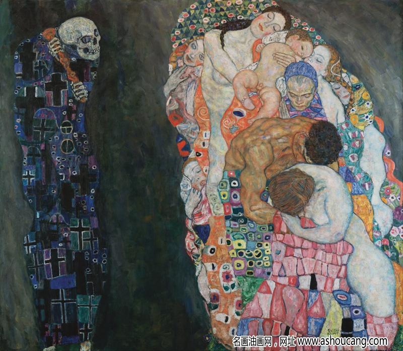 克里姆特名画《生与死》赏析 附高清图片