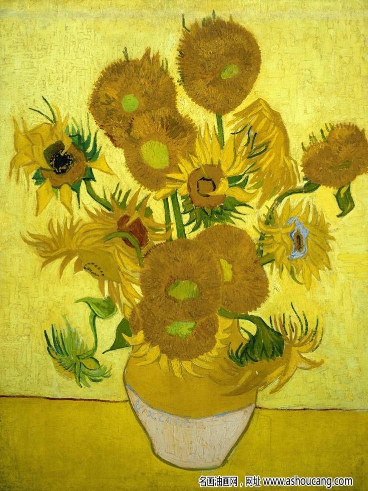 梵高名画作品《向日葵》欣赏赏析