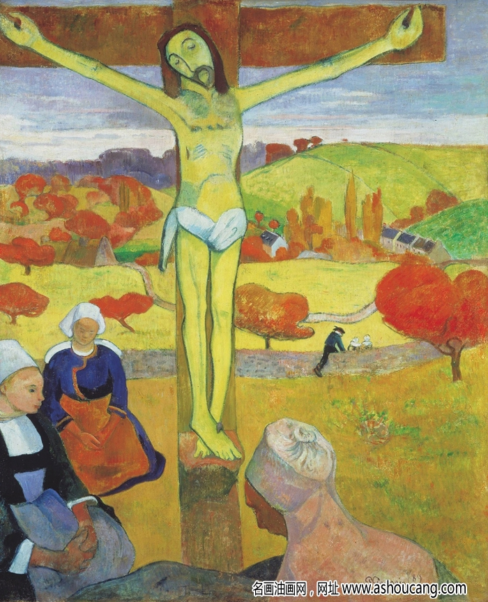 高更著名油画《黄色的基督》欣赏与赏析