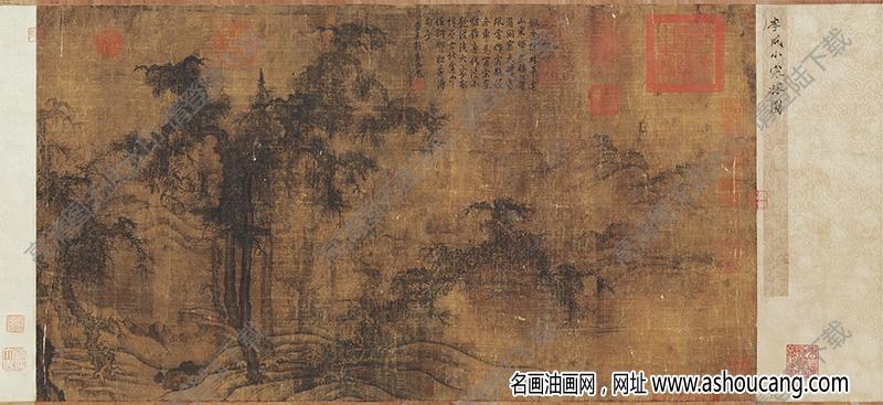 北宋 李成《小寒林图》国画高清大图下载