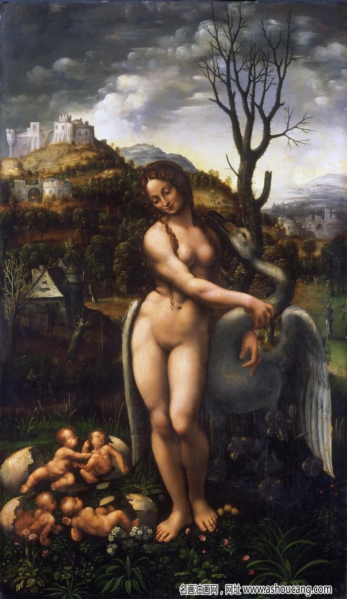达芬奇著名画作《勒达与天鹅》赏析