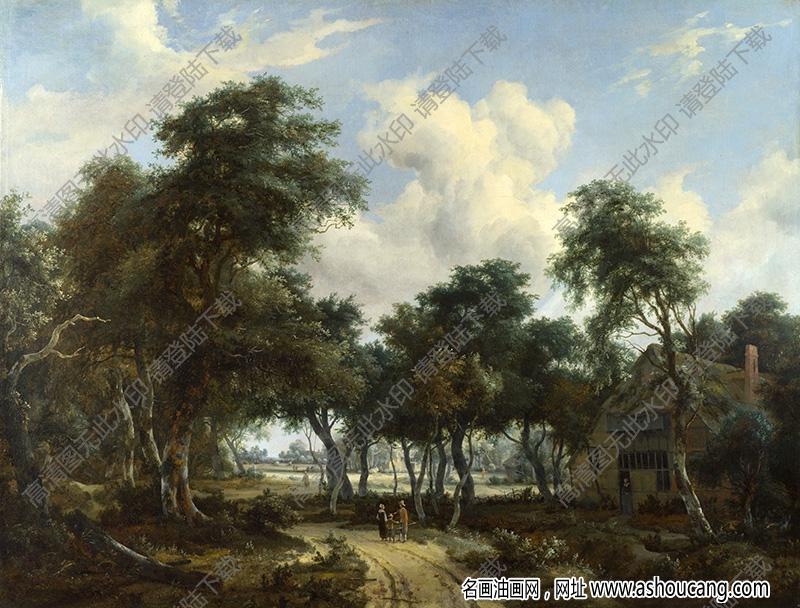 古典风景油画214高清下载