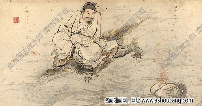 明 张路《神仙图册页》-10国画高清大图下载