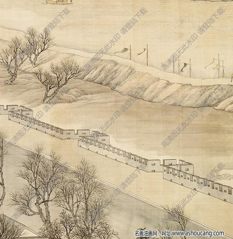 清 徐扬《乾隆南巡图》-2国画高清大图下载