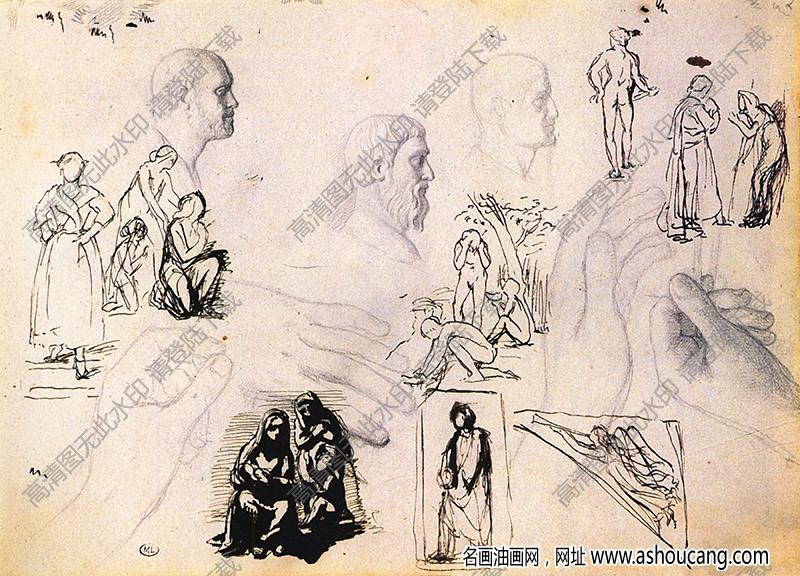 徳加素描14高清图片下载