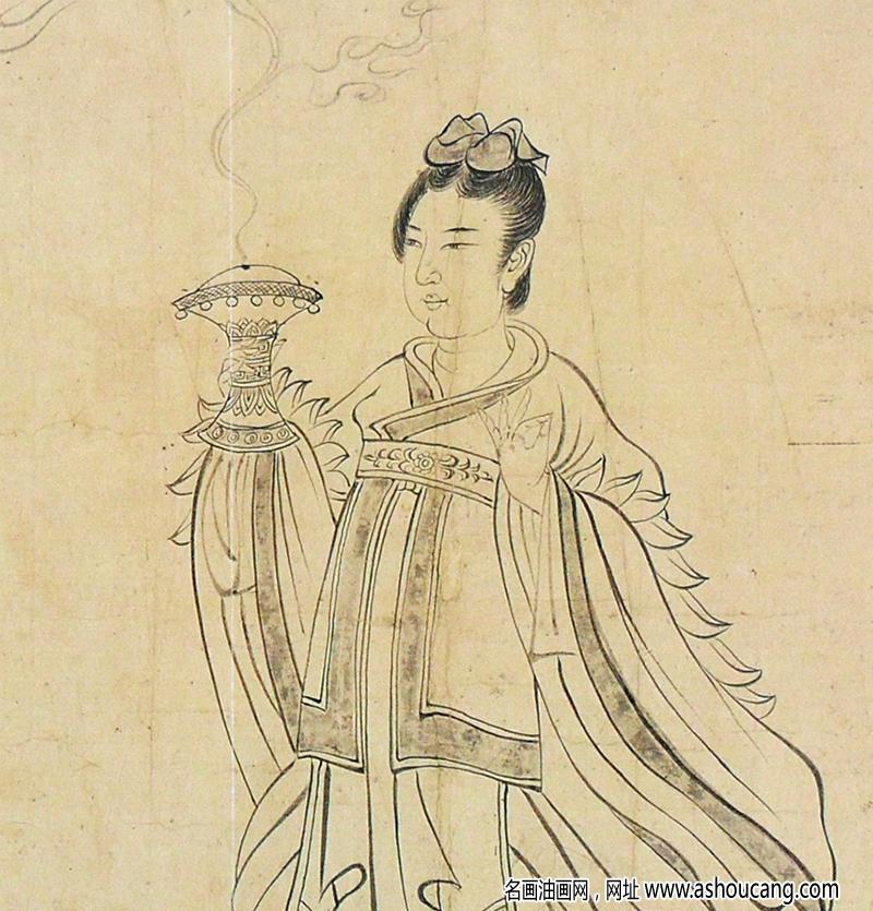 吴道子超高清《天王送子图》国画百度云网盘下载