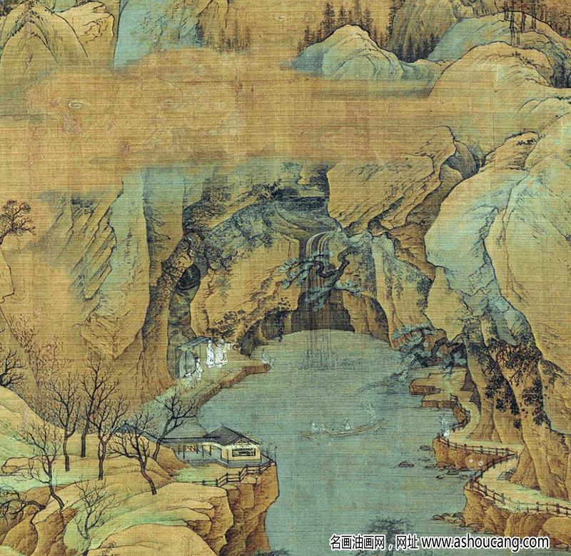 赵伯驹超高清《江山秋色图》国画百度云网盘下载