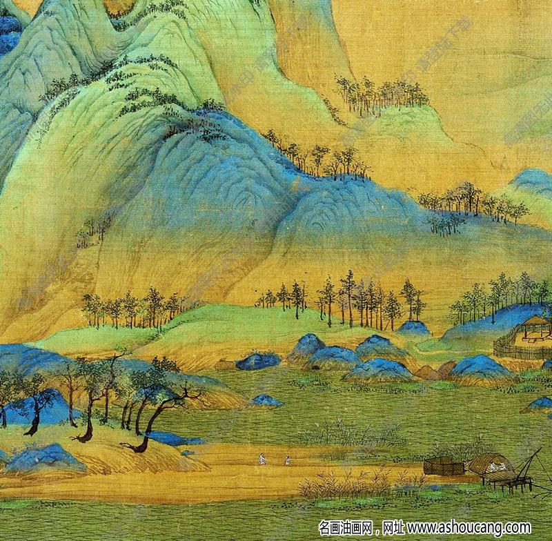 王希孟超高清《千里江山图》国画百度云网盘下载