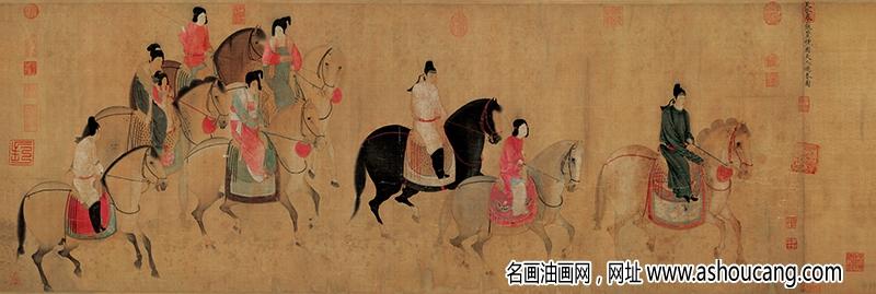 张萱超高清《虢国夫人游春图》百度云网盘下载