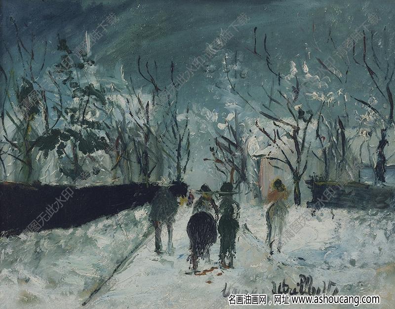 郁特里罗油画作品177高清下载