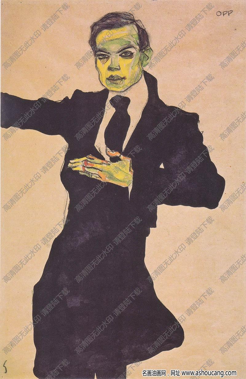 席勒油画作品108高清大图下载