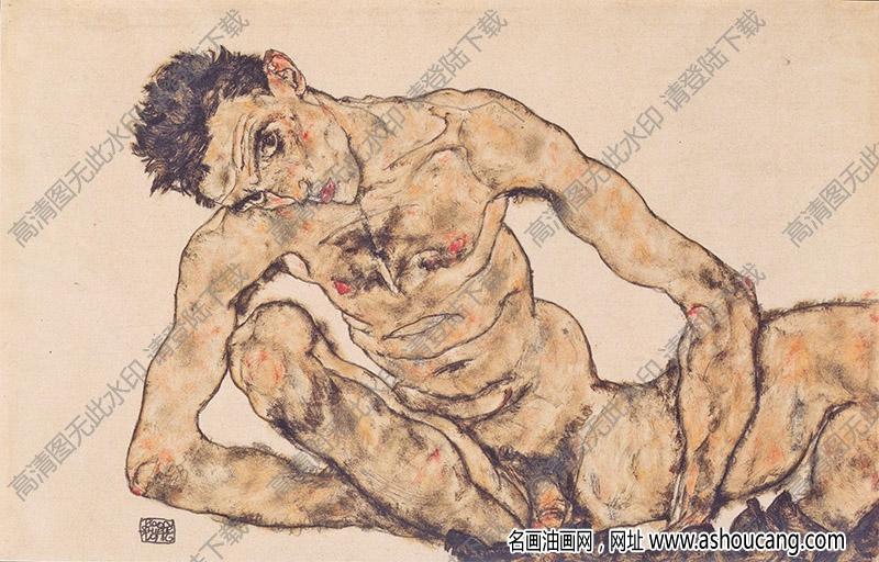 席勒油画作品118高清大图下载
