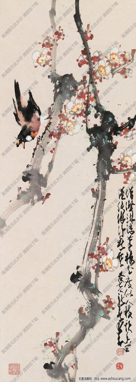 赵少昂作品 花鸟画2 高清大图下载
