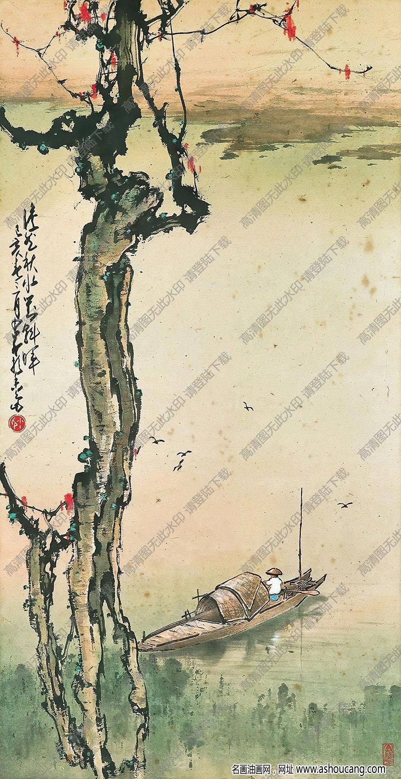 赵少昂作品 秋景 高清大图下载
