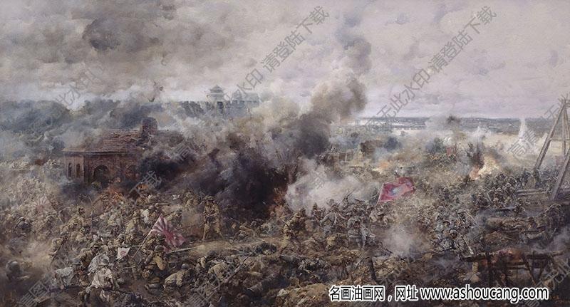 杨克山油画作品 七七事变.卢沟桥 高清下载