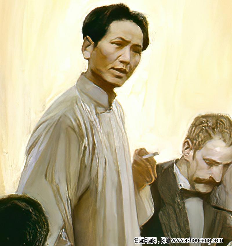 沈尧伊油画作品 八七会议 高清下载