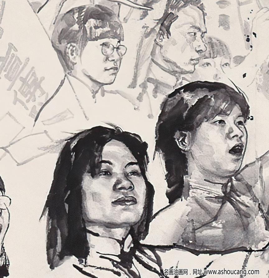 刘国辉作品 五四青年运动 高清大图下载