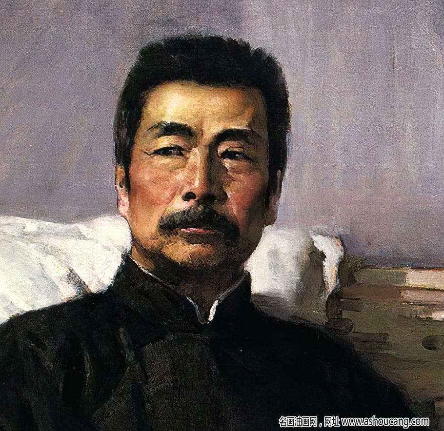 汤小铭油画作品《鲁迅 永不休战》高清下载