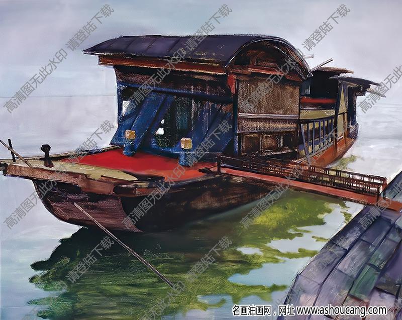 红船精神 油画高清大图下载