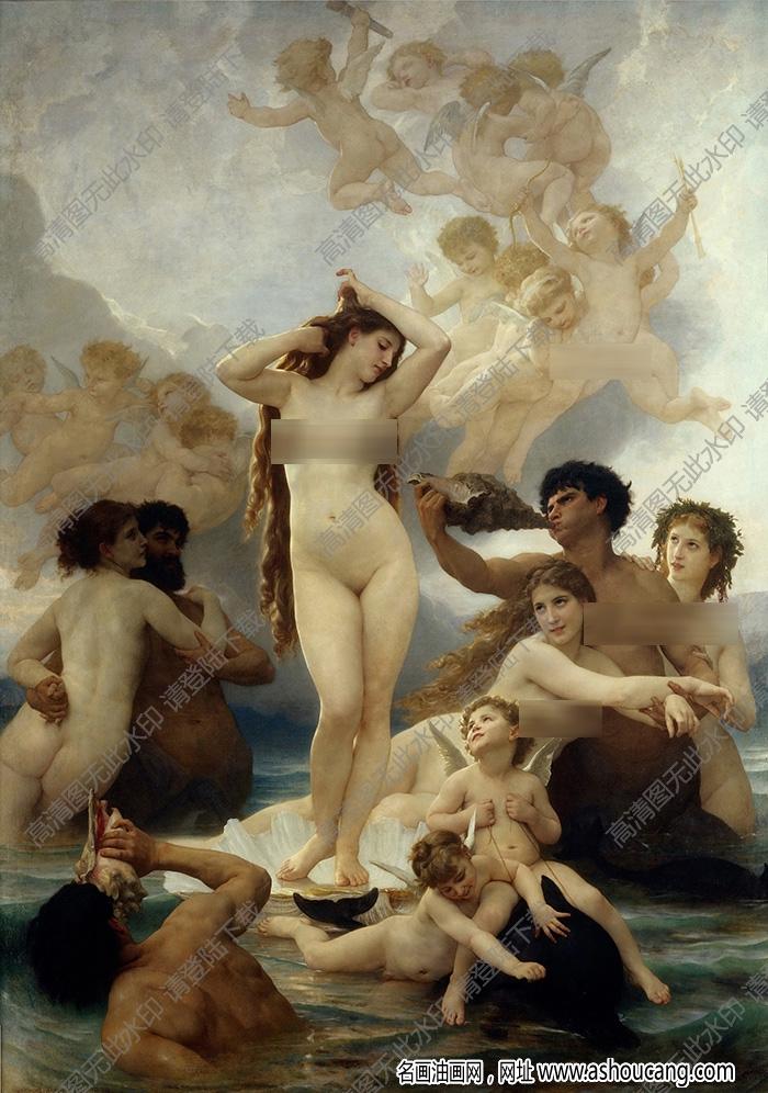 布格罗 名画《维纳斯的诞生》高清大图51下载