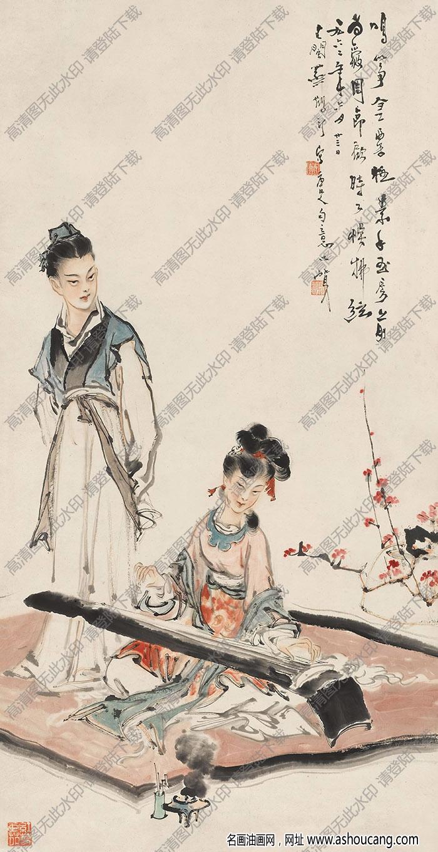 蔡鹤汀国画作品 唐人诗意 高清下载