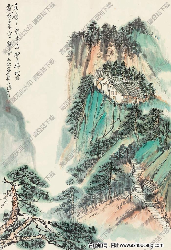 蔡鹤汀作品 古木幽居 高清大图下载