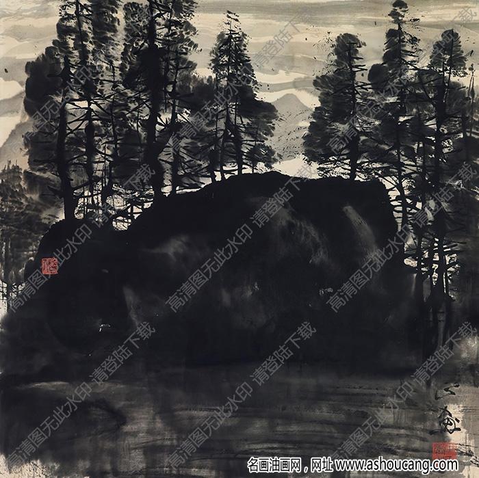 朱乃正国画作品 山水6 高清下载