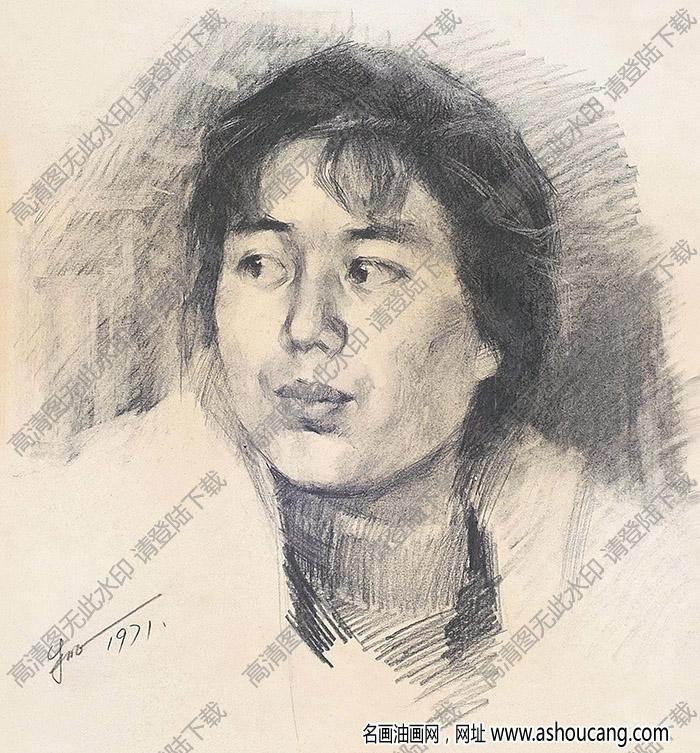 朱乃正素描 人物肖像 高清大图下载