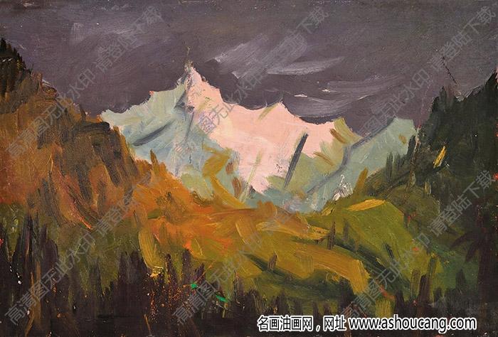 朱乃正油画作品 风景 高清下载