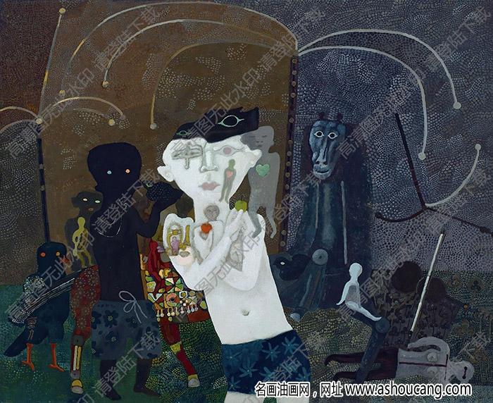 曹力油画 迷人的夜色 高清大图下载