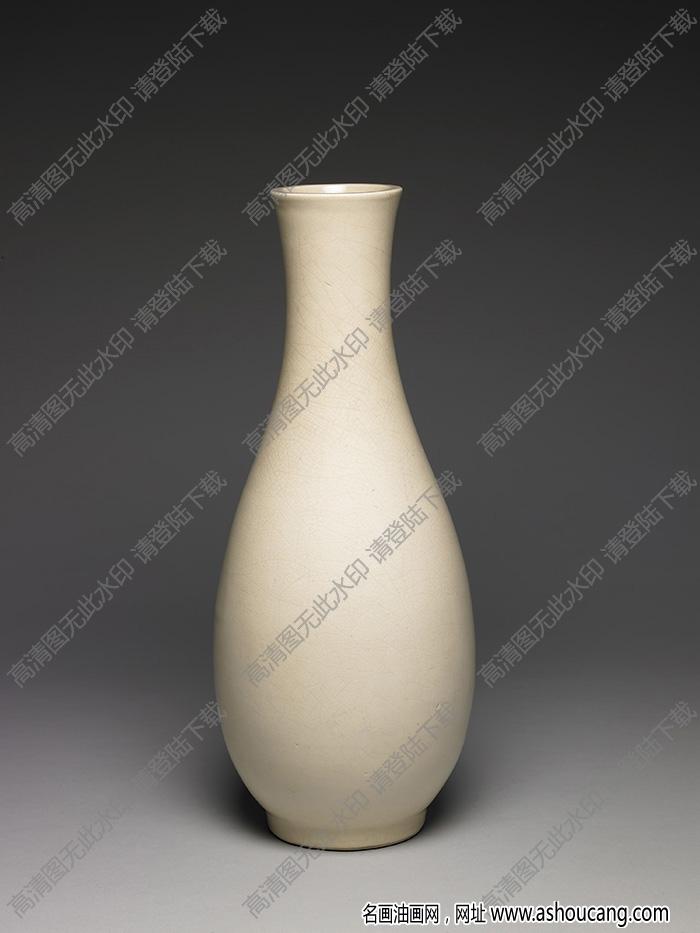 明-清 漳州窑白瓷棒棰瓶 高清大图下载