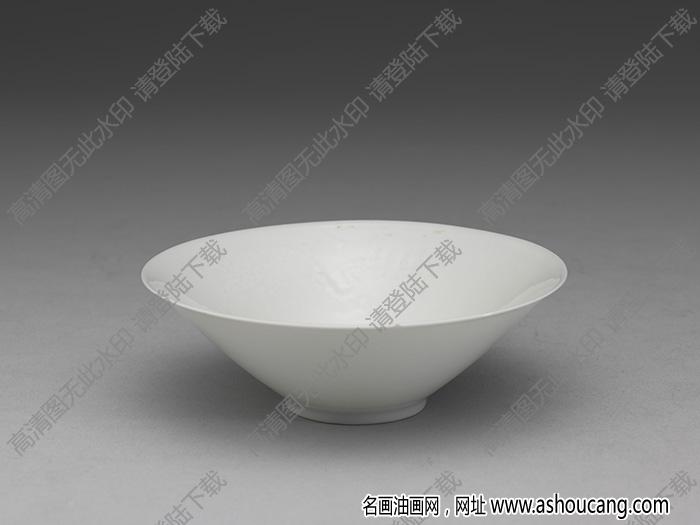明永乐 甜白双龙纹撇口小碗 高清大图下载